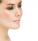 hübsches Gesicht Frau geschminkt