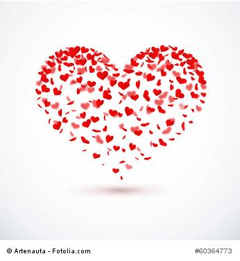 Herzkonfetti - Herzform