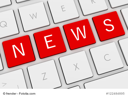 news keyboard 3d illustration isolated on white background